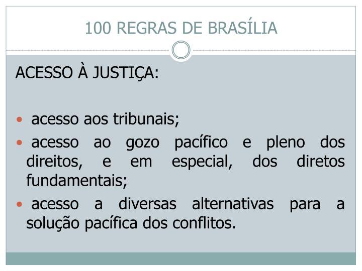 100 REGRAS DE BRASÍLIA