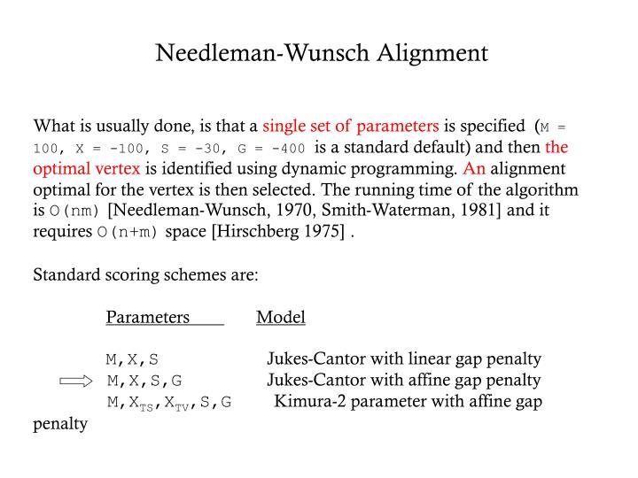 Needleman-Wunsch Alignment