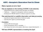 aopc atmospheric observations panel for climate