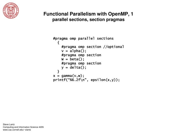 Functional Parallelism with OpenMP, 1