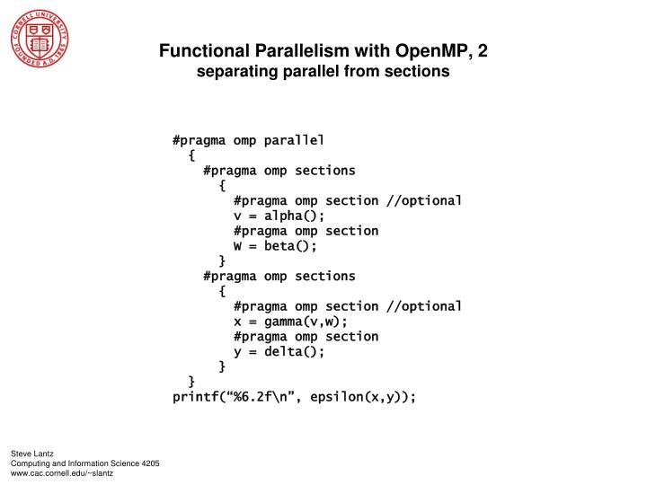 Functional Parallelism with OpenMP, 2