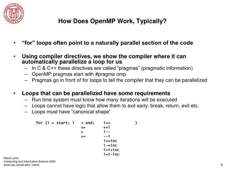 How Does OpenMP Work, Typically?