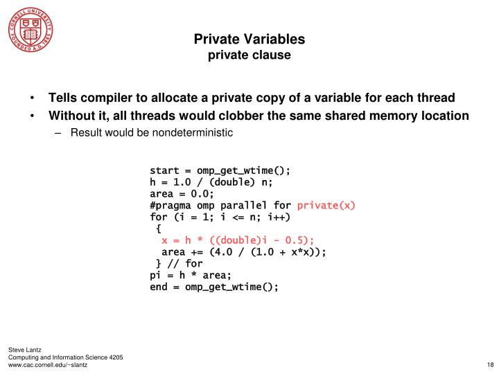 Private Variables