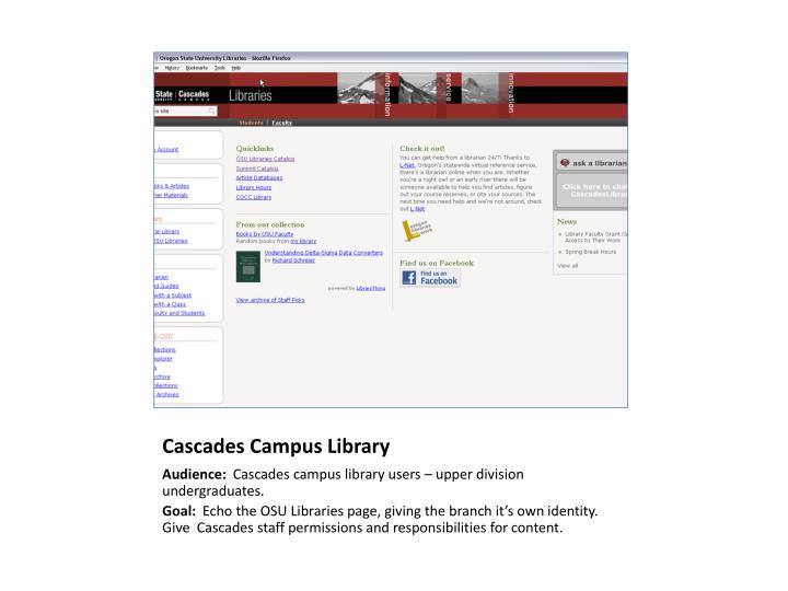 Cascades Campus Library