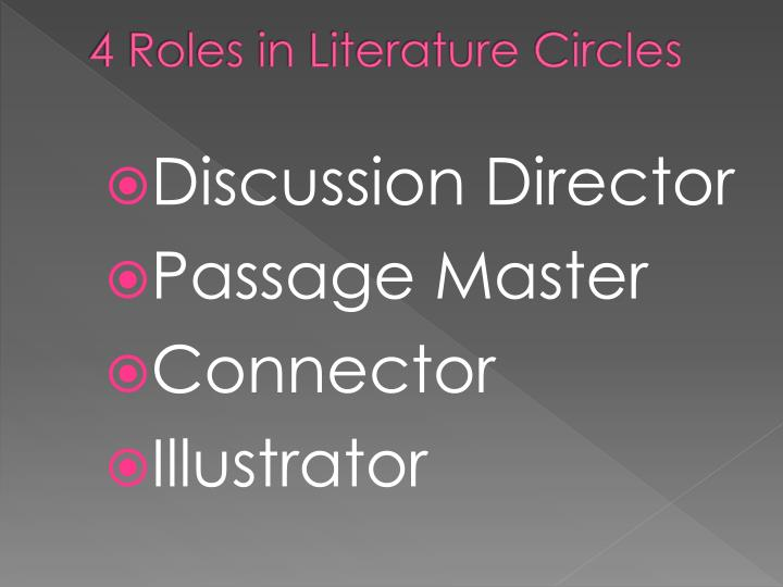 4 Roles in Literature Circles