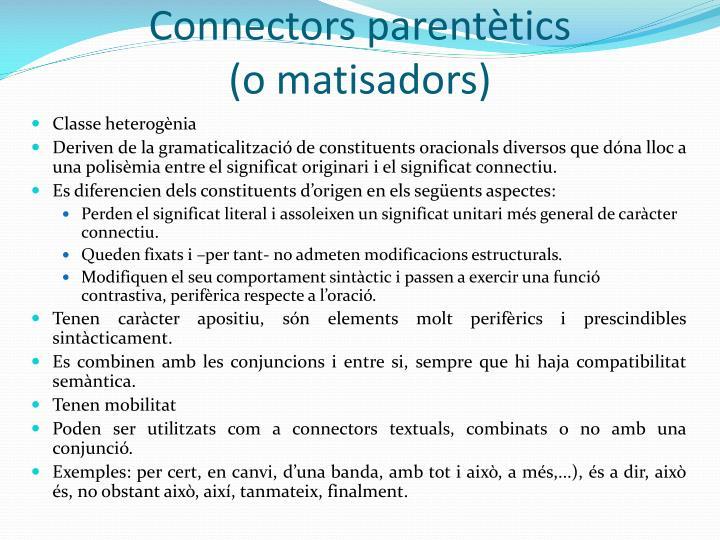 Connectors parentètics