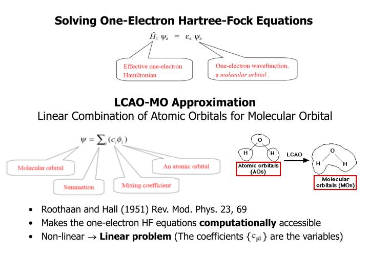 Solving One-Electron Hartree-Fock Equations