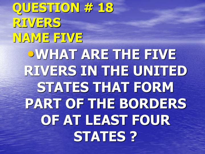 QUESTION # 18