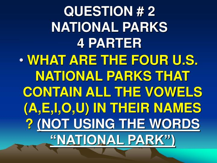 QUESTION # 2