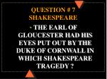 question 7 shakespeare