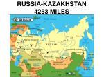 russia kazakhstan 4253 miles