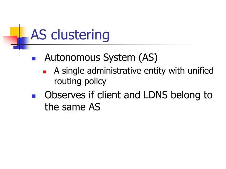 AS clustering