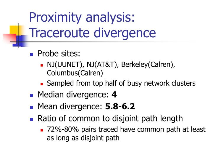 Proximity analysis: