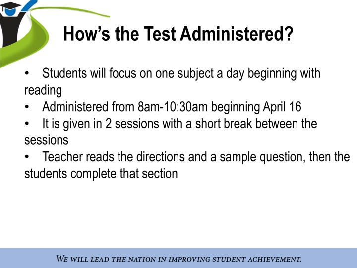 How's the Test Administered?