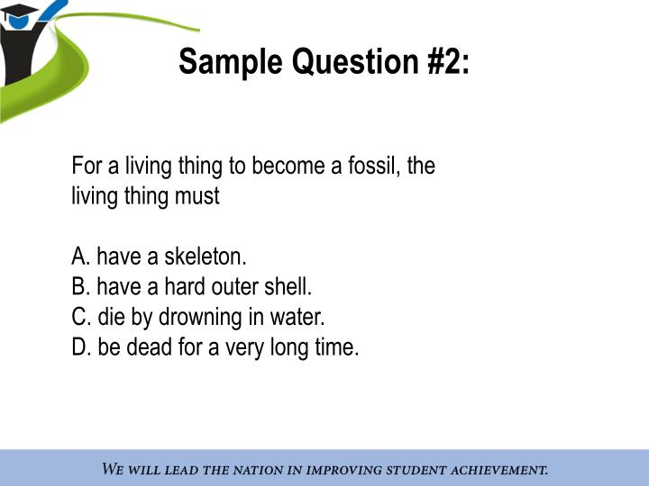 Sample Question #2: