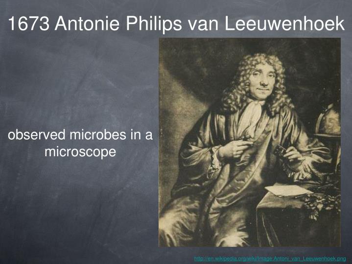 1673 Antonie Philips van Leeuwenhoek