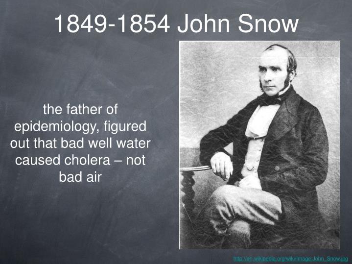 1849-1854 John Snow