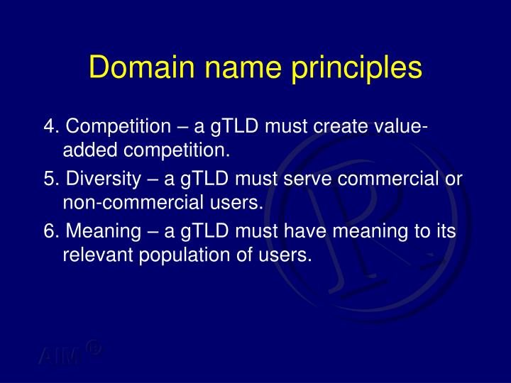 Domain name principles
