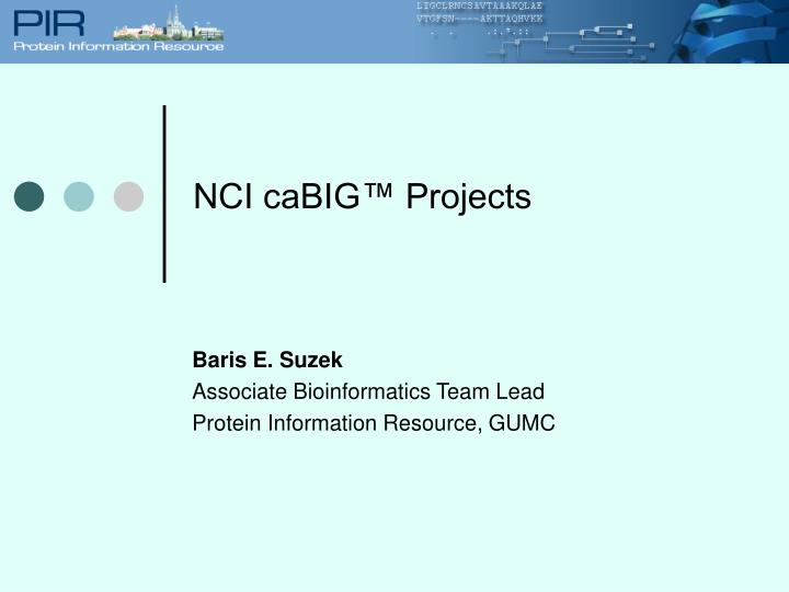 NCI caBIG™ Projects