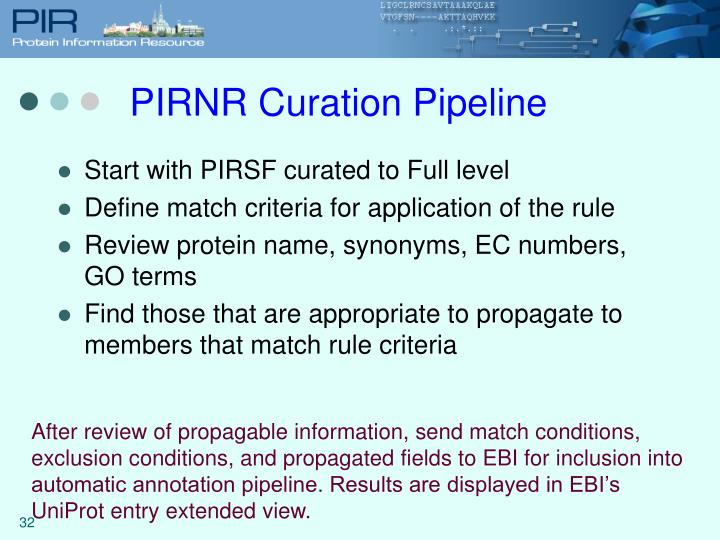 PIRNR Curation Pipeline