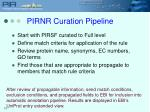 pirnr curation pipeline