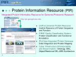 protein information resource pir