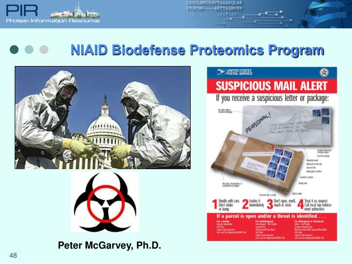 NIAID Biodefense Proteomics Program