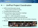 uniprot project coordination