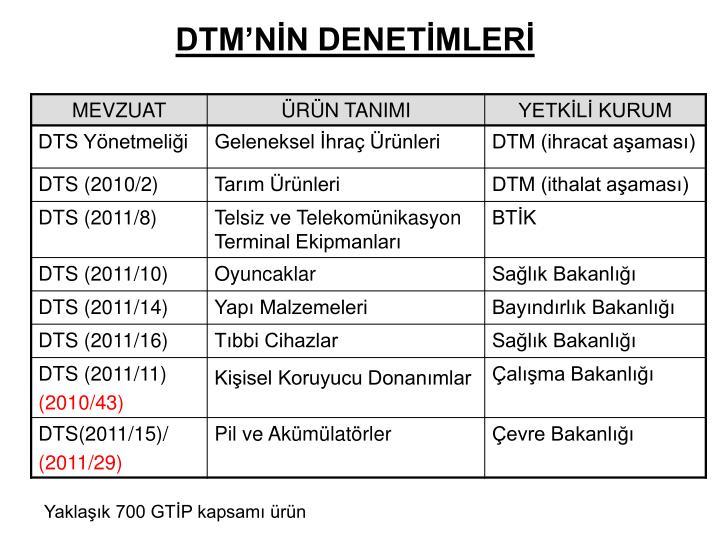 DTM'NİN DENETİMLERİ
