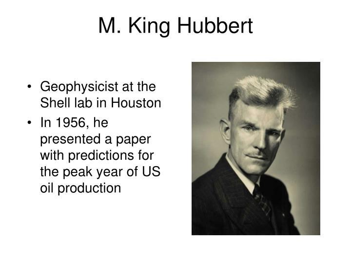 M. King Hubbert