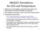 magicc simulations for co2 and temperature
