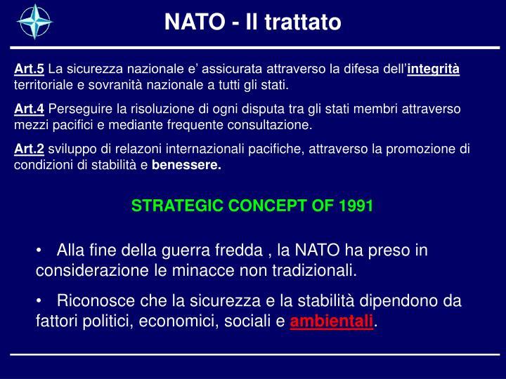 NATO - Il trattato