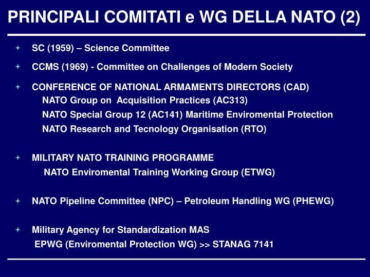 PRINCIPALI COMITATI e WG DELLA NATO (2)