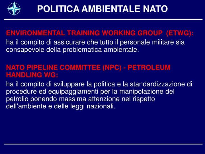 POLITICA AMBIENTALE NATO
