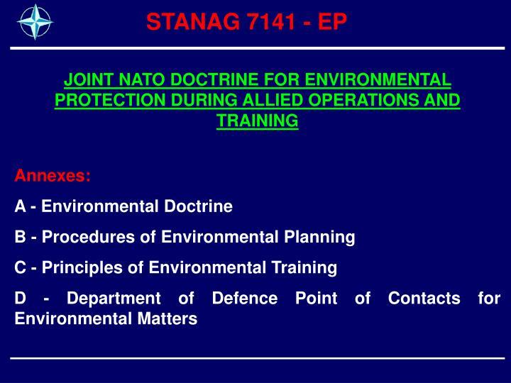 STANAG 7141 - EP