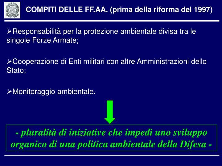 COMPITI DELLE FF.AA. (prima della riforma del 1997)