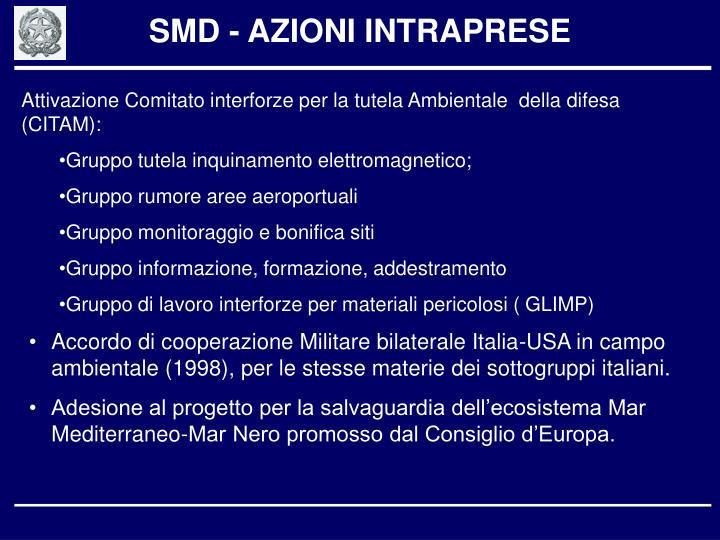 SMD - AZIONI INTRAPRESE