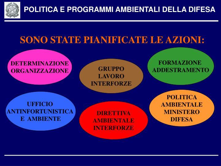 POLITICA E PROGRAMMI AMBIENTALI DELLA DIFESA