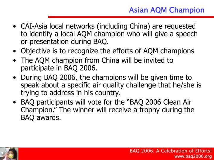 Asian AQM Champion