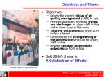 objectives and theme
