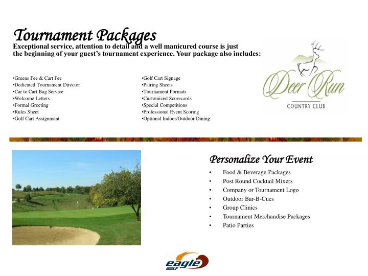 Exceptional service, attention to detail and a well manicured course is just