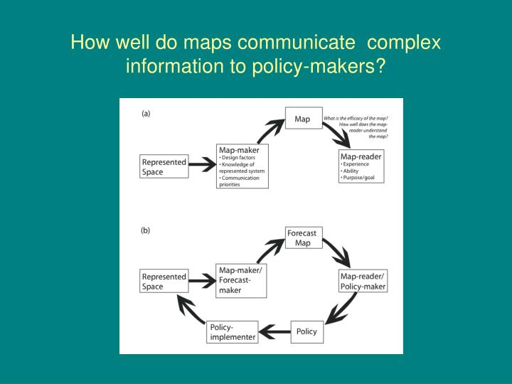 How well do maps communicate  complex information to policy-makers?