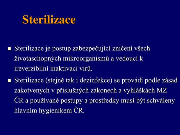 Sterilizace