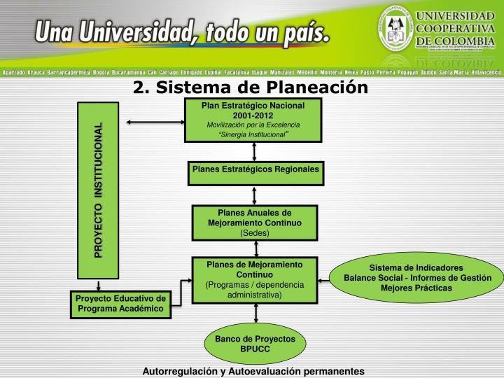 2. Sistema de Planeación