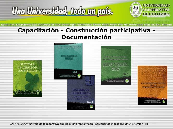 Capacitación - Construcción participativa - Documentación