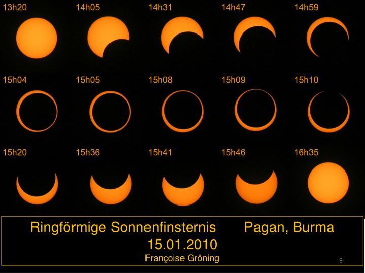 Ringförmige Sonnenfinsternis       Pagan, Burma  15.01.2010