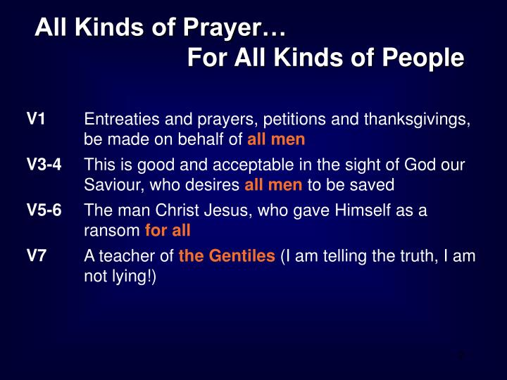 All Kinds of Prayer…