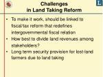 challenges in land taking reform
