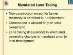 mandated land taking