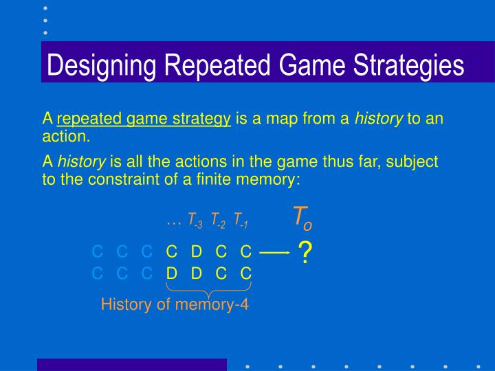 Designing Repeated Game Strategies
